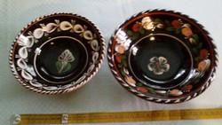 Sárospataki mázas tányérok