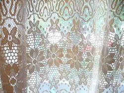 Két színű ekrű függöny