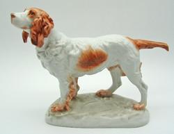 B772 Herendi Vastagh György porcelán spániel kutya - gyönyörű gyűjtői darab