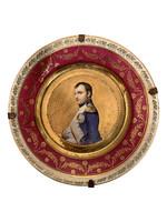 Porcelain plate with portrait of Napoleon, Austrian or Czech 1870's