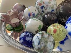 Hatalmas fújt üveg gömb gyűjtemény tükör ajándék