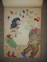 Vázlatfüzet kincsei, 1953-ban megkezdve, vegyes technika, bájos grafikák, A4-es méretűre igazíthatók