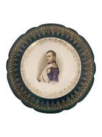 Portrait of Napoleon on dish, France 19th century