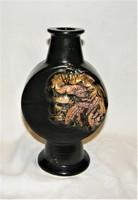 Jelzett kerámia váza 26 cm