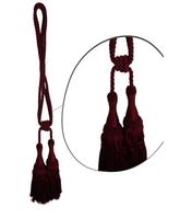 Klasszikus zsinóros kétfejes függönyelkötő – Bordó szín