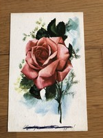 Gyönyörű Rózsa virág - Görög Lajos rajzos képeslap