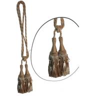 Klasszikus zsinóros kétfejes függönyelkötő –Bézs arany szín