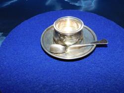 Ezüst fűszer tartó üveg betéttel   62 g
