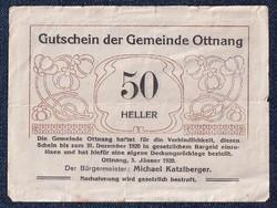 Ausztria Ottnang 50 heller szükségpénz 1920 (id51560)
