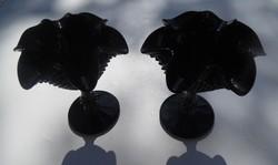 Fekete színű Desszertes, fagyis, fagylaltos talpas pohár készlet