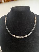 Egyedi kaucsuk ezüst nyaklánc
