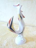 Hollóházi porcelán, kézzel festett figura, art deco kakas, magassága 14 cm.