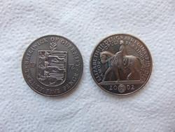 Anglia 2 darab 25 pence - pound LOT ! 28 grammos érmék