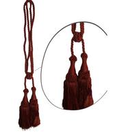 Klasszikus zsinóros kétfejes függönyelkötő – Terra  szín