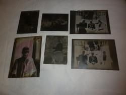 Antik dagerrotípia fotográfia üveglemez üvegnegatív 6db
