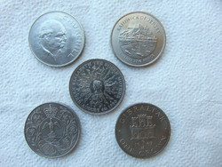 Anglia 5 darab 1 crown - 25 pence - pound LOT ! 28 grammos érmék  03
