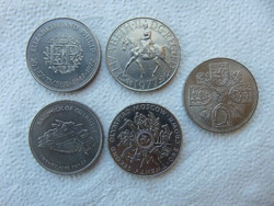 Anglia 5 darab 1 crown - 25 pence - pound LOT ! 28 grammos érmék  02