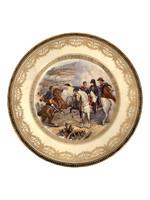 Plate with Napoleon at war: Combat de Heilsberg France