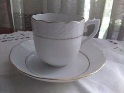 Fehér arany herendi kávés csésze alátéttel