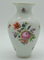 B776 Herendi ritka virág mintás 24 cm-es váza - gyönyörű gyűjtői darab