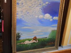 Nagyméretű Szinyei Merse Pál után pacsirta című festmény