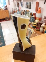 Retro Zsolnay porcelán váza. Török János tervezése