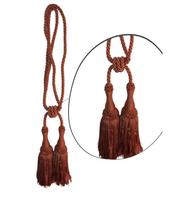 Klasszikus zsinóros kétfejes függönyelkötő – Lazac  szín