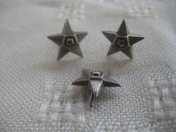 BM. rendőr  tiszthelyettes  ezüst  gombok  3 db