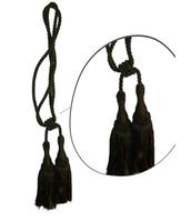 Klasszikus zsinóros kétfejes függönyelkötő – Sötét zöld szín