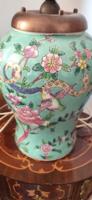 Kínai türkiz porcelán lámpa búra nélkül