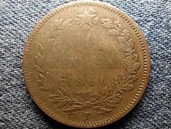 Olaszország II. Viktor Emánuel (1861-1878) 10 Centesimi 1866 T (id52239)