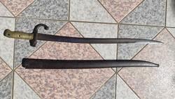 Chassepot Bajonett ,1871 felirat !Szurony,kard,szablya,Sáska -forma,szép Àllapotban.71 cm jelzett.