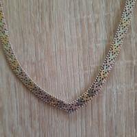 Három színű olasz ezüst nyaklánc