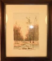 Szathmáry Piroska akvarel