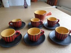 Retro Tófej kávéskészlet eladó!