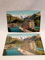 Svájc Hotel Central képeslap
