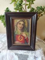 Mária kép üvegezett keretben