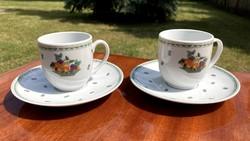 Alföldi 2 db retro kávés készlet csésze szett új hibátlan