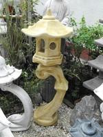 Szép 120cm Japán kertépítő Kő lámpa Feng Shui szikla  kerti tó pagoda műkő szobor