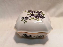 Zsolnay porcelán bonbonier 5,5x10x10 cm