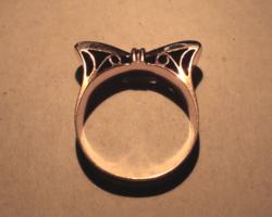 Art deco 14Karátos masnis gyűrű 1940 évek