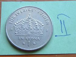 SVÉDORSZÁG 1 KORONA 2002 B, 64th King Charles XVI Gustaf (Carl XVI Gustaf  II.