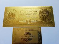 Aranyozott 20 forint 1947