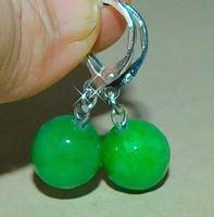 Jade ásvány Gömb Fülbevaló