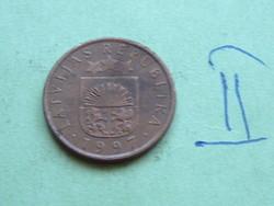 "LETTORSZÁG 1 SANTIMS 1997 ""The Royal Coin"" Norvégia  II."