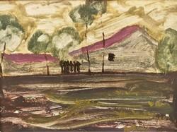 Prohászka József (1886 - 1964) Vásárhelyi tóaljban c. festménye EREDETI GARANCIÁVAL