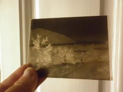 Antik dagerrotípia fotográfia üveglemez üvegnegatív
