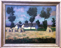 Pólya Iván/1889-1939/:Nyáridő,60 x80 cm,o-v
