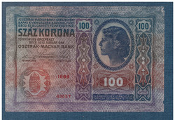 1912 100 Korona Felülbélyegzés nélkül F - aUNC