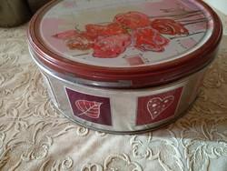 Rózsás kekszes fém doboz, ajánljon!